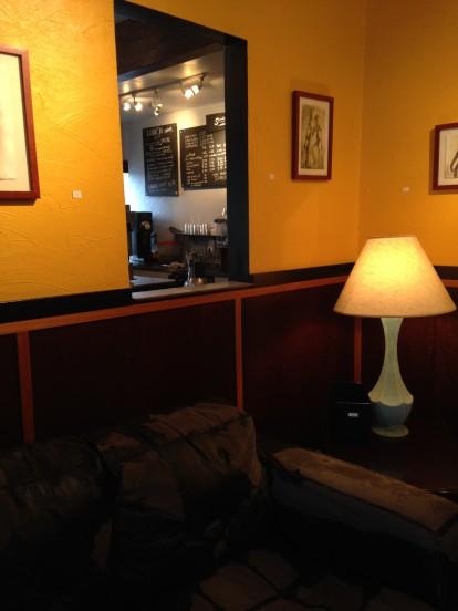 Speedboat Coffee, Interior Window