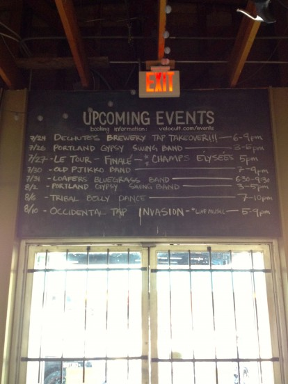 Velo Cult events board